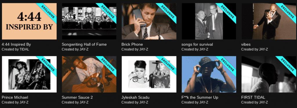 Jay Z 4.44 Tidal