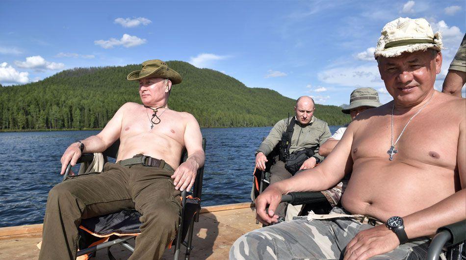 Putin op vakantie