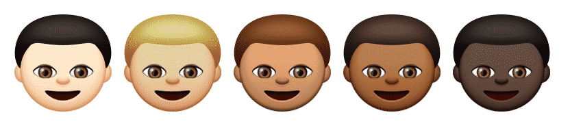Emoji skincolour