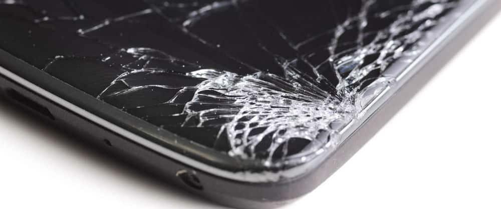 Smartphone scherm stuk