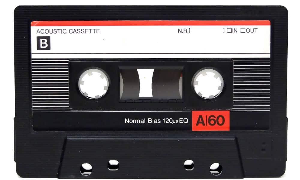 jaren 80 cassetebandje