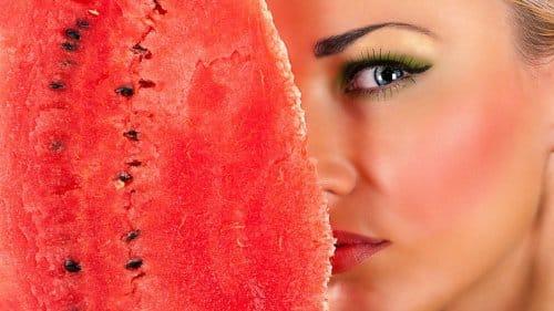 watermeloen goed voor je huid