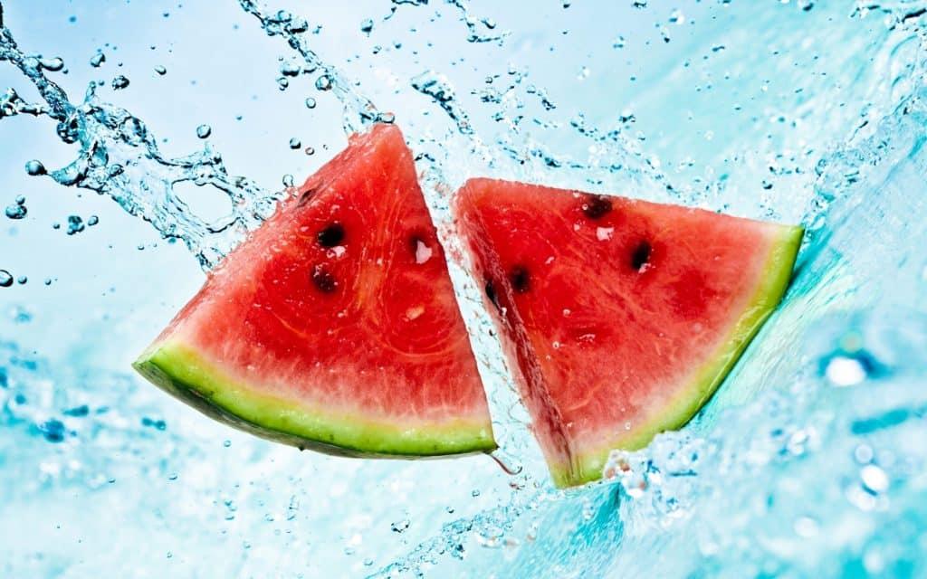 watermeloen is water
