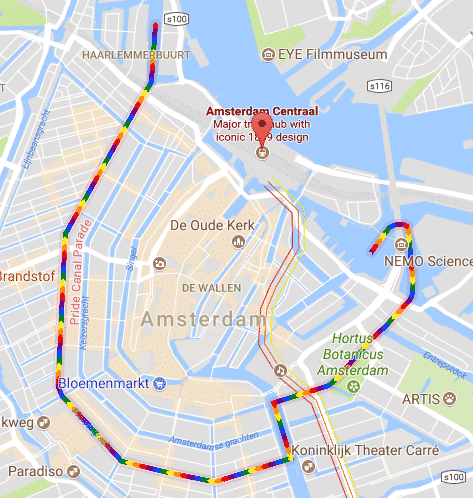 Google Maps Pride Amsterdam