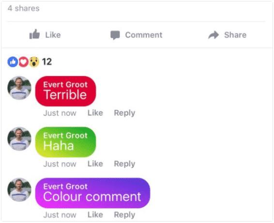 Gekleurde status comments