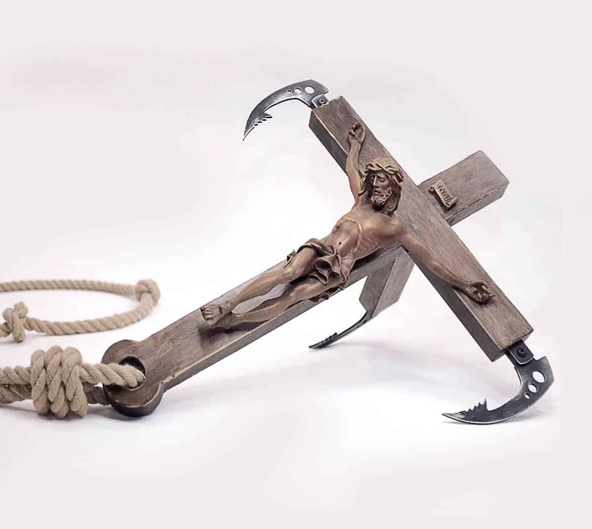 Banksy crucifix