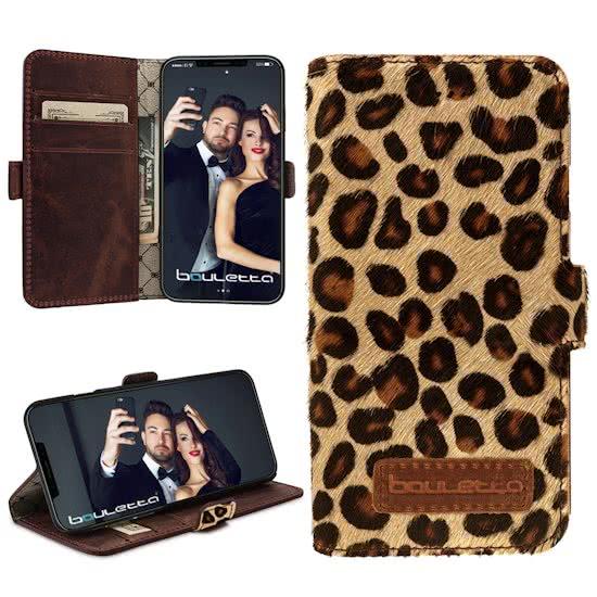 Bouletta iPhone X hoesje Leopard Wallet
