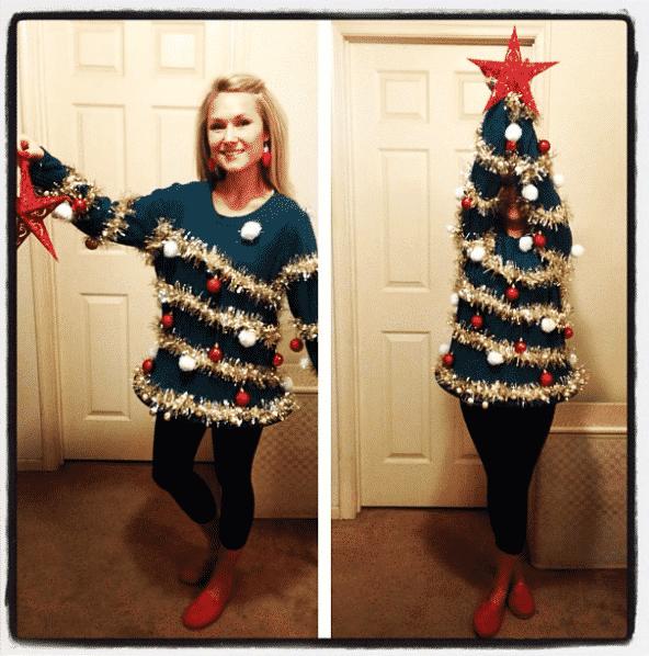 kerstboom trui
