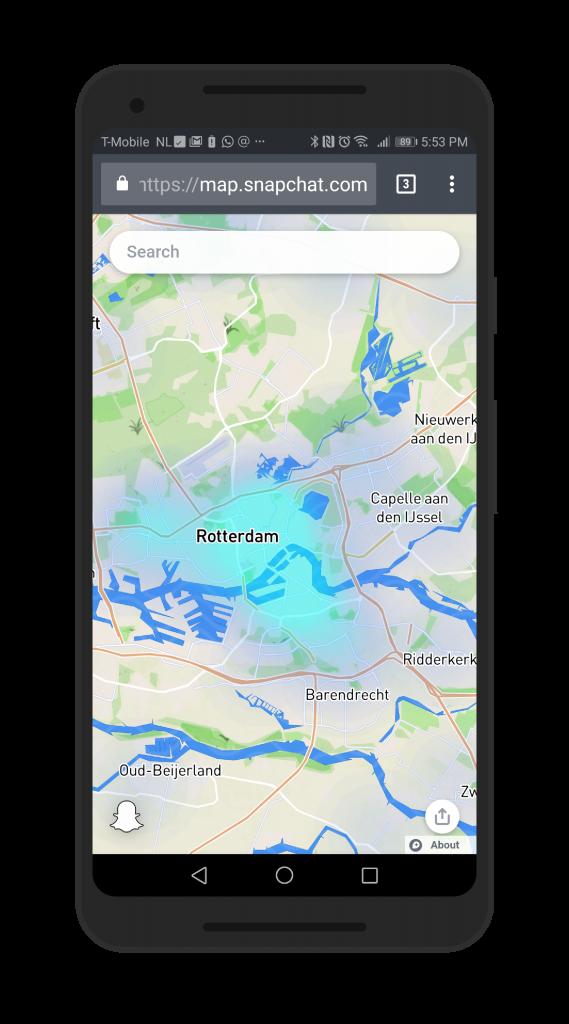 Snap Map screenshot