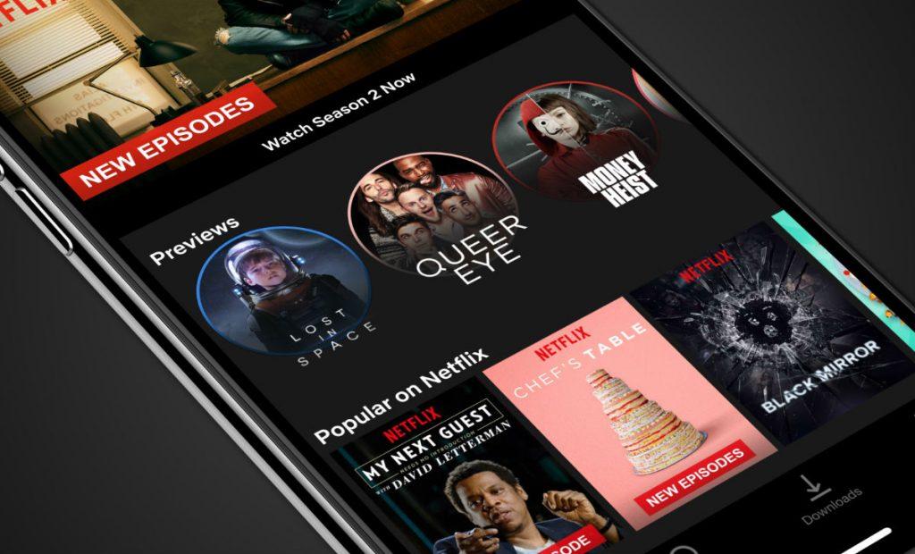 Mobile previews netflix