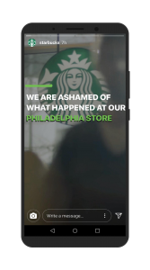 Starbucks sorry instagram