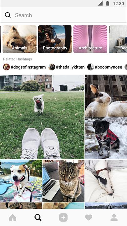 Nieuwe explore-pagina van Instagram