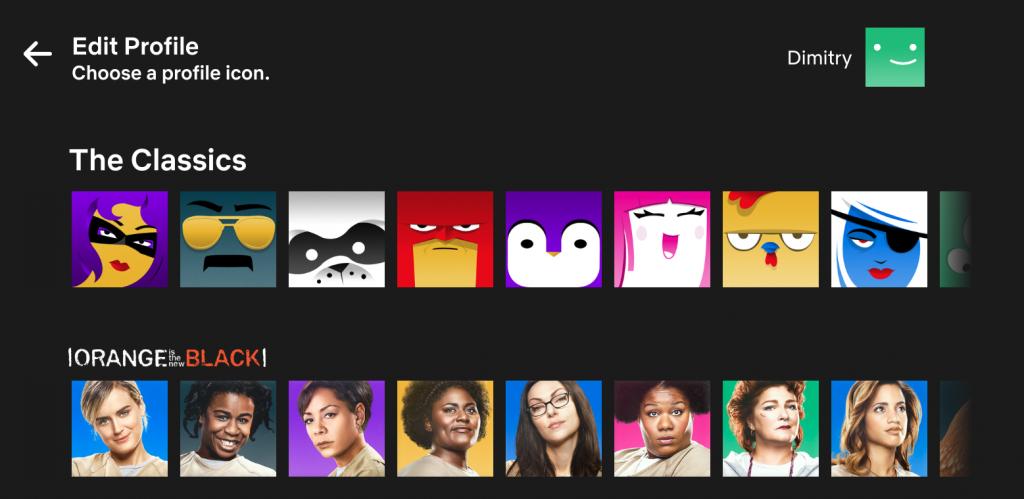Netflix icoon zelf kiezen