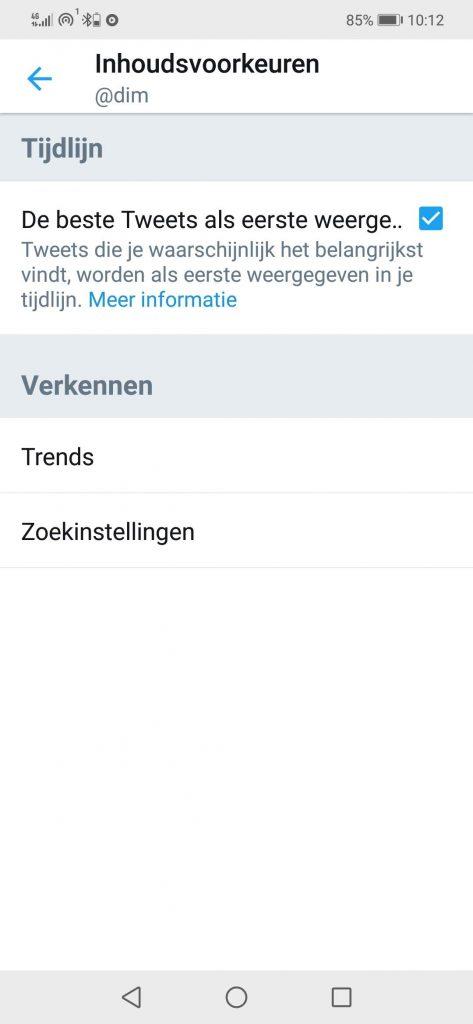 Aanpassing Twitter