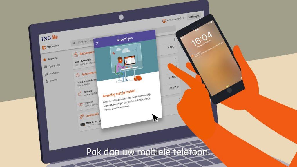 Mobiel bevestigen ING
