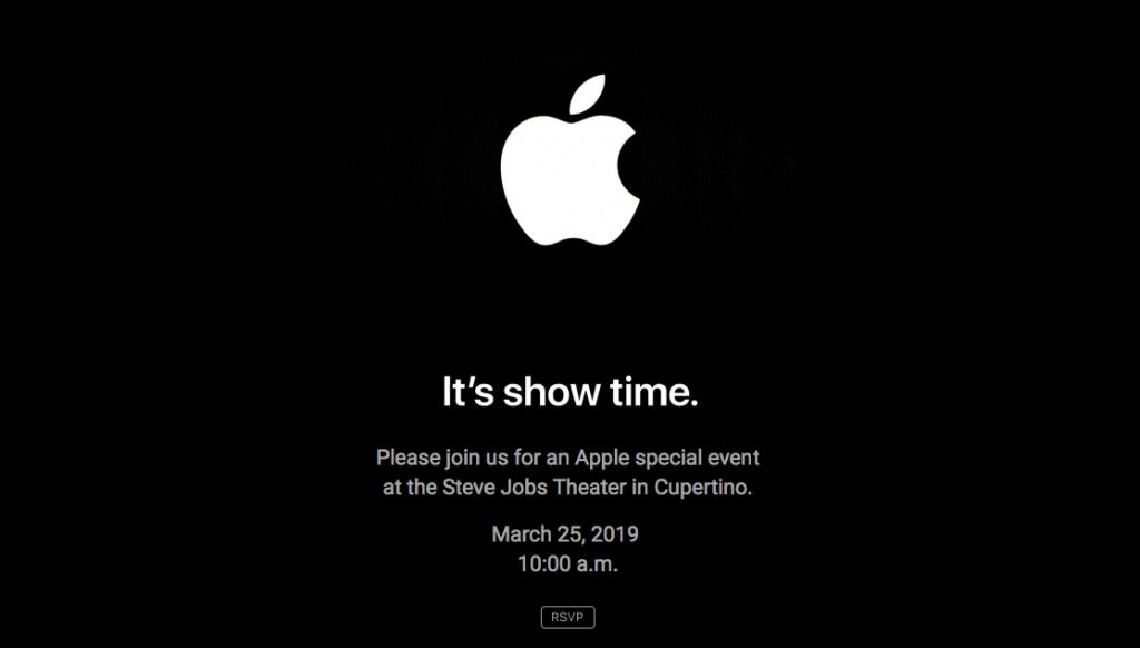 Apple evenement 25 maart 2019