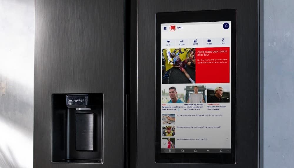 Beeldscherm op Samsung Family Hub