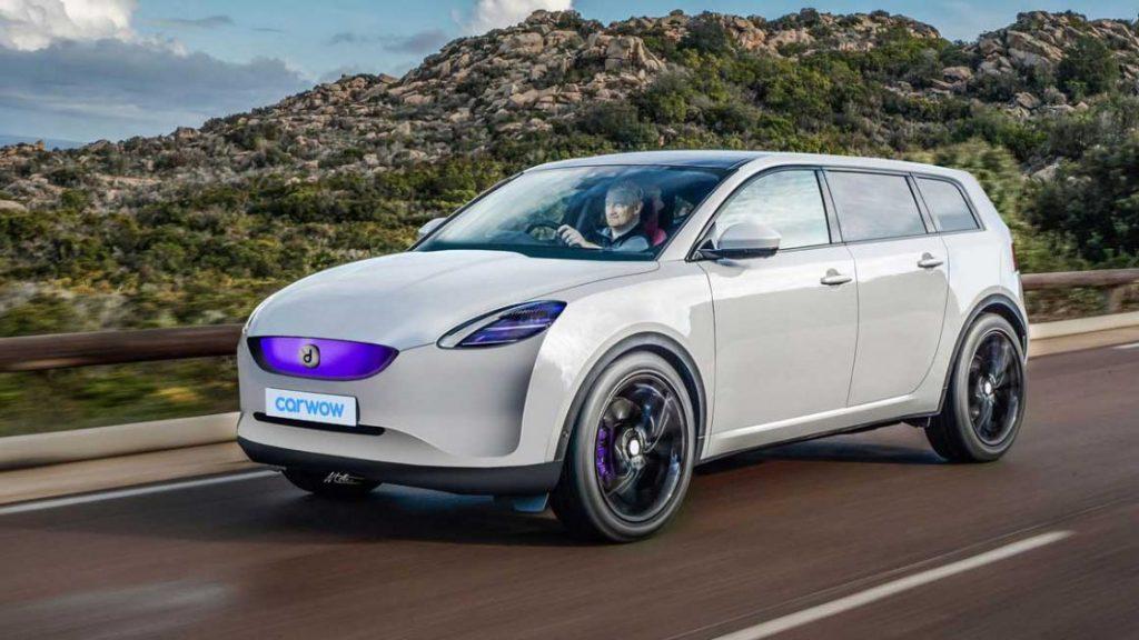 Dyson elektrische auto render